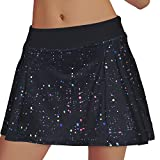 Rainbow Tree Women's Golf Skirt Tennis Skort Pleated with Side Inner Pockets Indoor Exercise,Runs Large