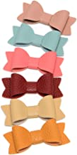Cotton and Linen Bow Hair Accessories Hair Bow Clip for School Girls Pack of 14pcs