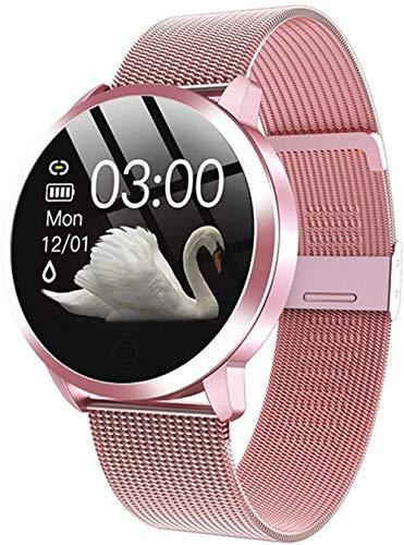 Reloj inteligente Rose con pantalla OLED a color, reloj inteligente para hombres y mujeres, moda de fitness, rastreador de frecuencia cardíaca, pulsera podómetro C