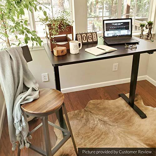 Flexispot Standing Desk 48 x 30 Inches Height Adjustable Desk Electric Sit Stand Desk Home Office Desks Whole-Piece Desk Board (Black Frame + 48 in Blacktop)