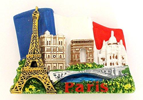 magnet aimant de frigo cuisine souvenir de France Paris cadeaux Monuments 7 x 6 cm MG48