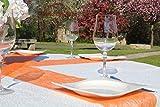 AmaCasa Vlies Tischband Tischläufer Flower Vlies Hochzeit Kommunion 23cm/25m Rolle (Orange, Vlies) - 4
