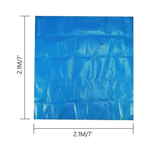 Z.L.FFLZ Piscine Cover Rond/carré Piscine Couverture 6 7ft Anti-UV Spa Bain à remous Couverture Solaire Couverture Thermique Bubble (Color : Bleu, Size : C)