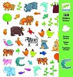 DJECO- GlobosPegatinasDJECOPegatinas Animales, Multicolor (100)