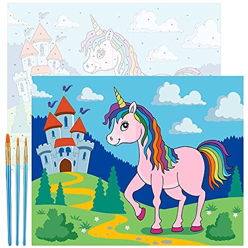 Emooqi Pintar por Numeros Adultos, DIY Paint by Numbers Kits de Pintura Numeros con Lienzo, Pinceles y Pinturas Acrílicas para Decoración Hogar, Sin Marco, 47 x 57 cm
