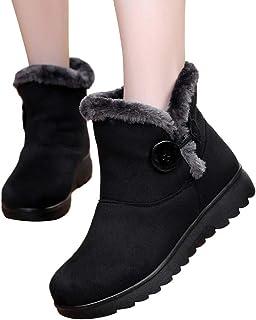 Deelin winterlaarzen voor dames, voor dagelijks gebruik, warm, modieus, casual, winter, enkelhoog, sneeuwlaarzen, dikke sc...
