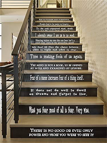 wandaufkleber weihnachten eule Hogwarts Set von 12 Zitate Harry Potter inspiriert Vinyl Wand oder Treppe Decals von Dumbledore Sirius Wizard Decor