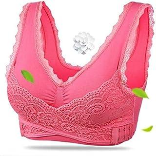 OneChange Ms. Fitness Yoga Sports Bra Padded Push-up Bra Female lace Crop top Yoga Gym Shirt Vest Sports Bra Tops Seamless...