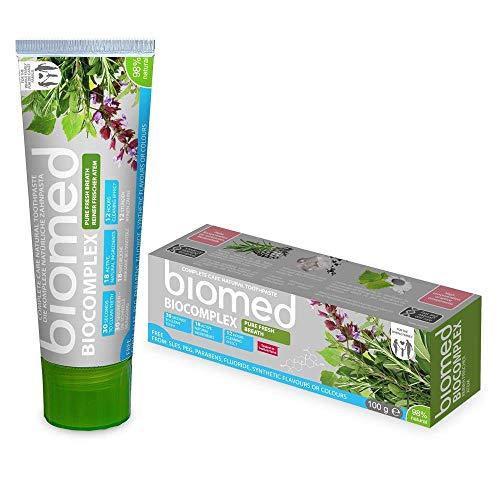 BIOMED Biocomplex natuurlijke tandpasta zonder fluoride voor een frisse adem