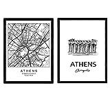 Nacnic Pack Poster Athen - Akropolis. Blätter mit