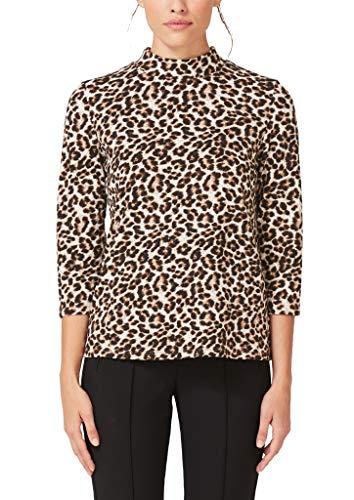 s.Oliver BLACK LABEL Damen Shirt im Leo-Look nairobi black AOP 40