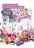 Amerikanischer Adventskalender 2020 I US Weihnachtskalender American Candy mit 24 Süßigkeiten aus den USA