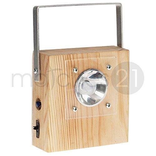 matches21 LED Taschenlampe Holz Bausatz f. Kinder Werkset Bastelset ab 11 Jahren