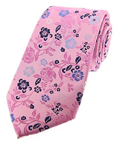 Soprano Posh & Dandy Rose avec fleurs multicolores de luxe Cravate en soie
