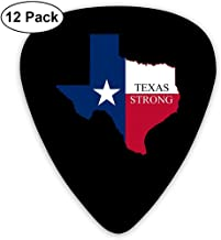 Púas de guitarra Texas Strong Custom Abs Guitar Plectrums para bajo, guitarra eléctrica y acústica - Paquete de 12