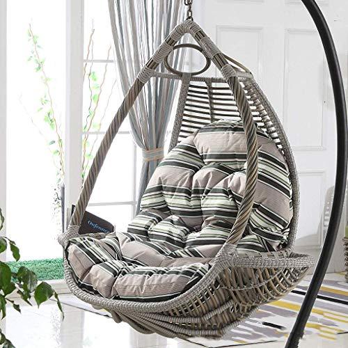 Yuany Schaukelstuhl-Kissenauflagen, Eier-Hängesessel-Kissen Eierförmiger Stuhl für Garten-Terrassenmöbel im Außen- / Innenbereich, 90 x 120 cm (Farbe: Grau)(KEIN Stuhl)