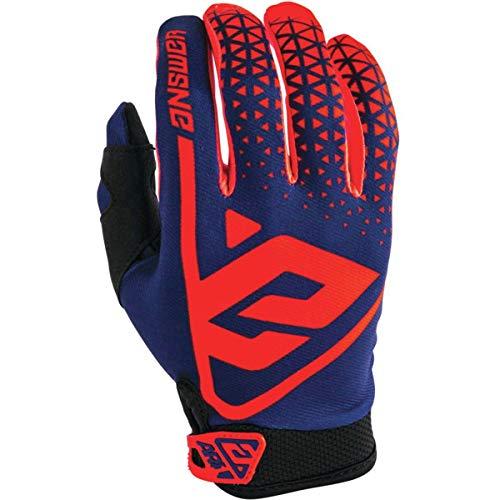 Answer AR1 Youth Motocross Handschuhe - Rot/Blau - Mehrfarbig, Yl