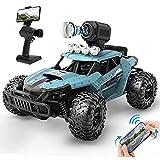 UJIKHSD RC Cars Coche de Control Remoto con cámara 720P HD FPV, camión de Control Remoto Todoterreno a Escala 1/16, Camiones Monstruo de Alta Velocidad para niños Adultos, Regalo para niños y niñas