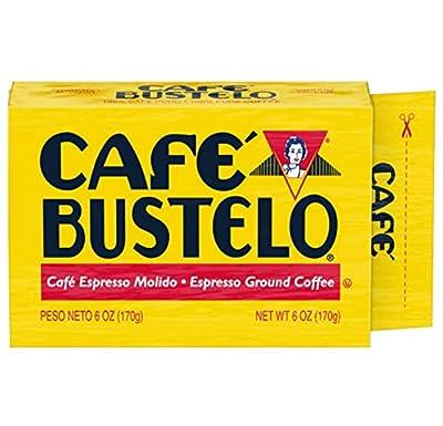 Cafe Bustelo Espresso Dark Roast Ground Coffee Brick, 6 Ounces (Pack of 12)