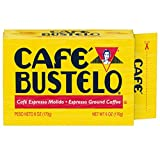 Cafe Bustelo Espresso Dark Roast Ground Coffee Brick, 6 Ounces (Pack of 12)