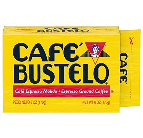 Café Bustelo Espresso Dark Roast Ground Coffee Brick, 6 Ounces (Pack of 12)