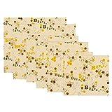 Senmubery Set de 6 Envoltorios Cera de Abejas, Envoltorios de Cera Abeja Reutilizables para Alimentos, Envoltorios de PláStico Sostenible para Almacenamiento Alimentos, Materiales OrgáNicos
