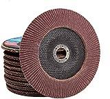 Juego de 10 discos de láminas para amoladora angular (115 mm, P120)