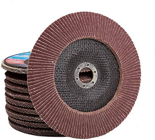 10 St. Set 115 mm P120 Fächerscheibe Flap Disk für Winkelschleifer Schleifteller Schleifscheibe