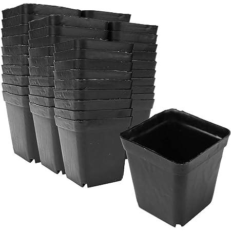 プラスチック製 植木鉢 フラワーポット ガーデニング サボテン鉢 家庭菜園 軽量 園芸用品 (50個セット)