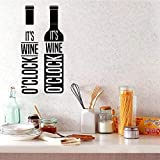 Amovible Vin Wall Art Decal Décoration Autocollant De Mode Salon Salle À Manger Cuisine Fond Mur Art Decal 43 cm X 89 cm