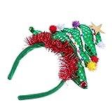 Lurrose Diadema para árbol de Navidad con lentejuelas, para árbol de Navidad, con campana, para fiestas de festivales