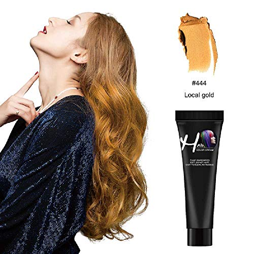 NIUHAIQING Modesalon Haarfärbemittel Farbstoff Creme Silber Grau Blau Rot Grün Farbstoff Produkte Haarfärbung Nicht Verletztes Haar Schnell Grün