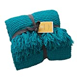 Melody House Super Soft Woven Plaid Pattern Throw, Decorative Throw...