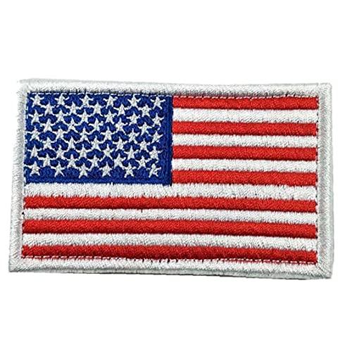 Froiny Hilo De Bordado De La Bandera Americana Patriótica Parches Bordados Tácticas Eeuu Militares Remiendo del Hierro En Los Pegatinas para La Ropa De Los Pantalones Vaqueros