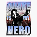 Cloudconer Agents of Quake My Johnson Hero is Daisy Shield Impressive Posters for Room Decoration Printed with The Latest Modern Technology on semi-Glossy Paper Background