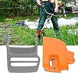 Accesorio para sierra de cadena, mango de freno de material metálico de alta calidad, duradero, para Husqvarna 340345350353