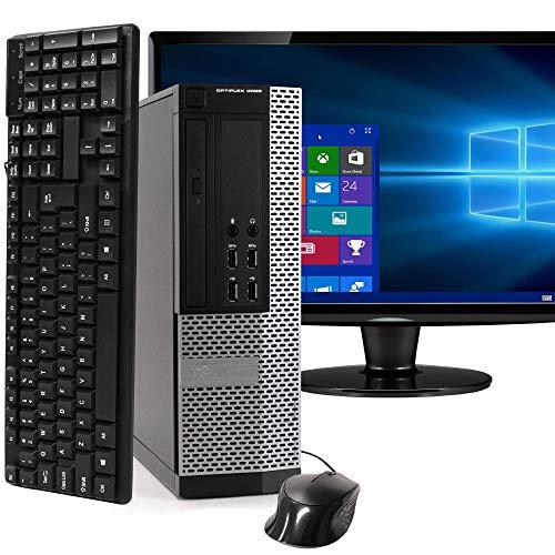 Dell Optiplex 9020 SFF Computer Desktop PC, Intel Core i5 Processor, 16 GB Ram, 2 TB Hard Drive, WiFi, Bluetooth 4.0, DVD-RW 1 inch LCD Monitor, Windows 10 Pro (Renewed)
