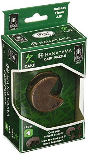 University Games Hanayama Level 4 Cast Metal Brain Teaser Puzzle - Cake