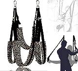 DanTanes Columpio Giratorio con Estampado de Leopardo, Columpio Profesional para Yoga, Hamaca, Silla, Columpio, Asiento