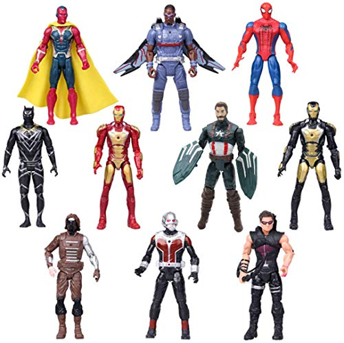 Superhero Adventures Ultimate Super Hero Set, 10 Collectible 6.7-Inch PVC Toy Dolls Action Figures, Holiday Toy Gifts for Kids