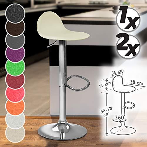 Miadomodo Sgabello da Bar Cucina Colore e Set a Scelta Girevole e Regolabile con poggiapiedi