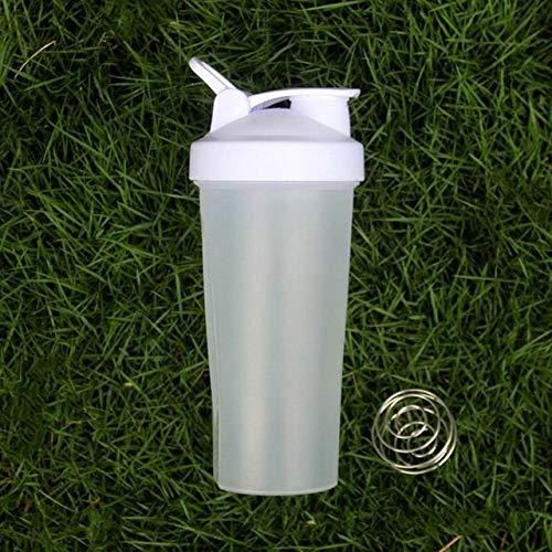 Plastic sports bottle gym handle 700ML protein bottle with ball - white shaker bottle,601-700ml