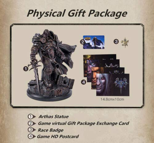 Warcraft III Reforged Collector/' Edition ARTHAS Statue Entity Gift Box Blizzard