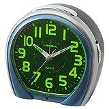 ランデックス(Landex) 目覚まし時計 エブリビュー 非電波 連続秒針 常時点灯 集光 ブルー YT5268BU