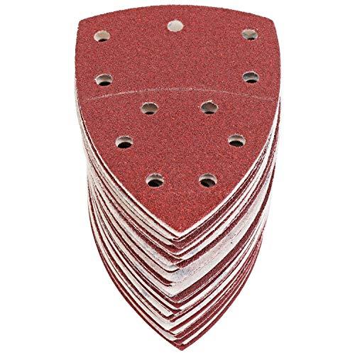 S&R Klett Schleifpapier Set 105 mm x 152 mm (93 x 93 x 93 mm), 60 St. Schleifdreiecke, 11 Löcher: 10*P40, 10*P60, 10*P80, 10*P120, 10*P180, 10*P240 für Deltaschleifer / Multischleifer