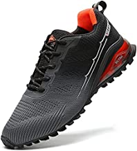 NAIKOYO Men's Trail Running Shoes 14 - Trekking Training Breathable Sneakers Non-Slip Walking Footwear Athletic Running Shoes (Grey, Numeric_14)