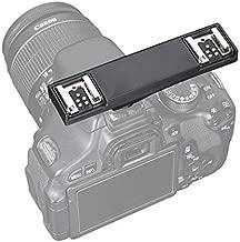 YUOCU Dual Hot Shoe Flash Speedlite Light Bracket Splitter Compatible for Canon T5i T4i T3i,700D 650D 600D,1Ds II,5DIII,5DII,1D IV,430EX II 600EX-RT 90EX 580EX II 270EX II Camera, Camcorder