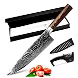 MYVIT Chef Knife Pro Kitchen Knives 8 inch Japanese Chefs Knife Cooking Sushi Professional for...