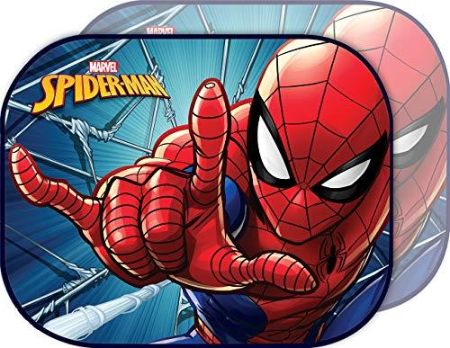 Marvel Spiderman Sunshade Paire de Rideaux latéraux Pare-Soleil pour Voiture Spiderman Homme araignée Enfant