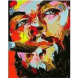 GAOqi ART Peinture par Numéros Homme DIY avec Cigarette Figure Mur Art Photo Peinture Acrylique pour La Décoration De Mariage
